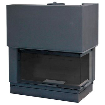 Фото H 1200 right bended glass WS Black BN2 Топки AXIS (Франция) heatsystems.ru
